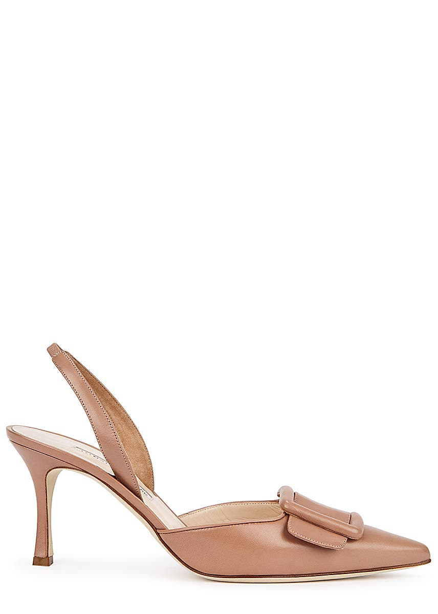 c77ca1cfc3c16 Maysli 70 blush slingback leather pumps Maysli 70 blush slingback leather  pumps. New In. Manolo Blahnik