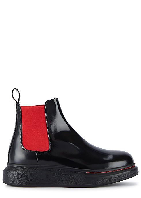 819359c3c120a Alexander McQueen 40 black rubber Chelsea boots - Harvey Nichols