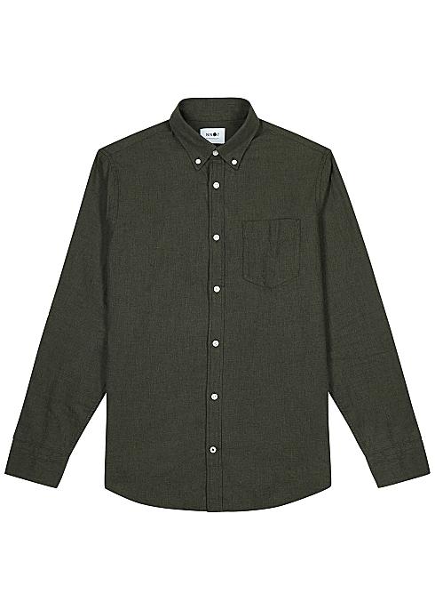 02317943a NN07 Dark green cotton shirt - Harvey Nichols