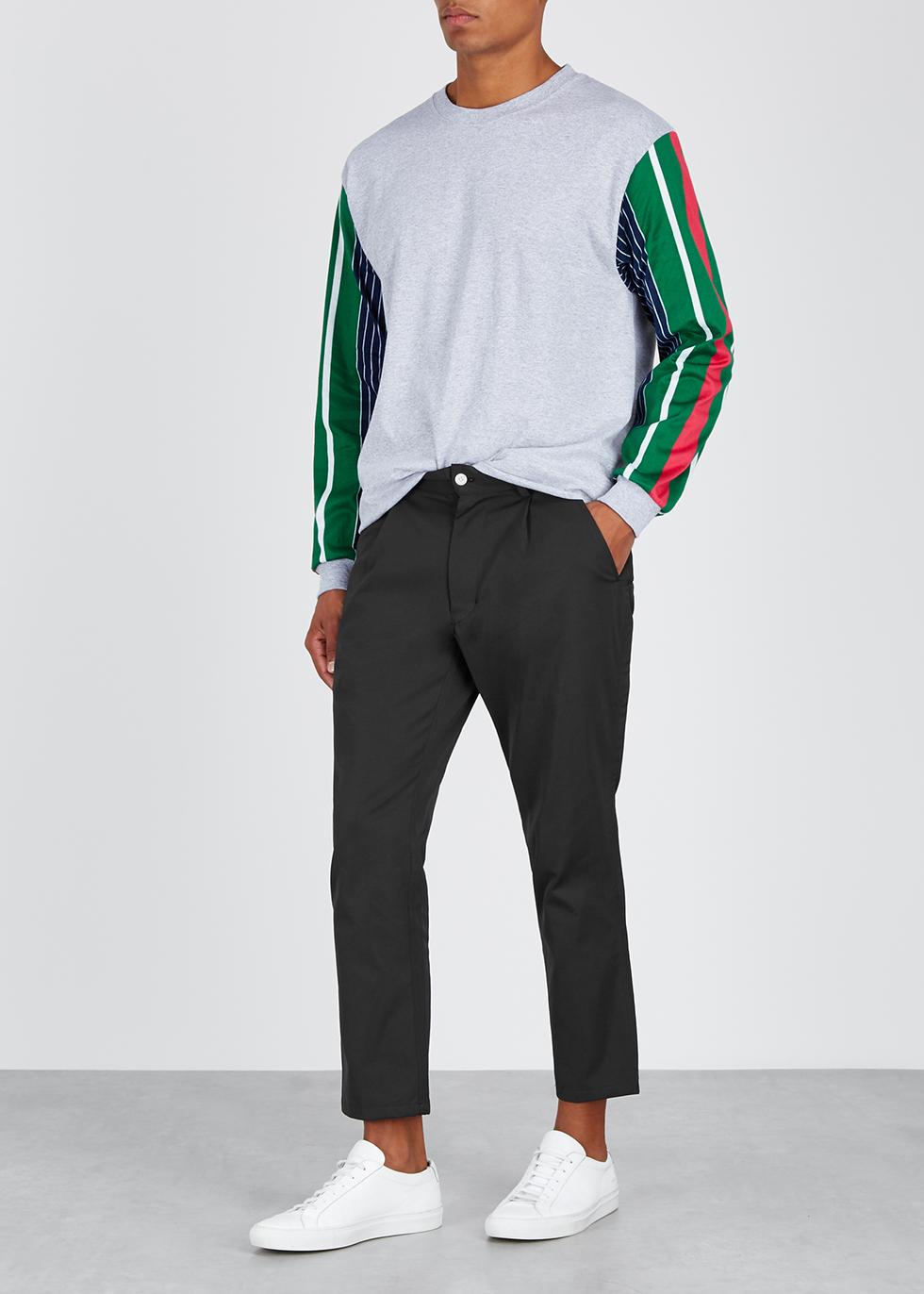 Black slim-leg twill trousers - Noma T.D