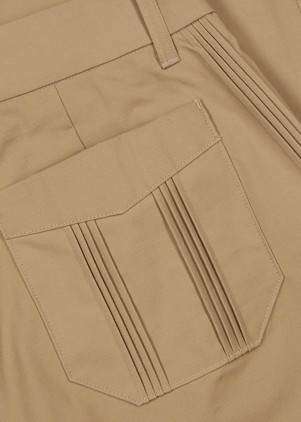 Camel pintucked cotton trousers - Noma T.D