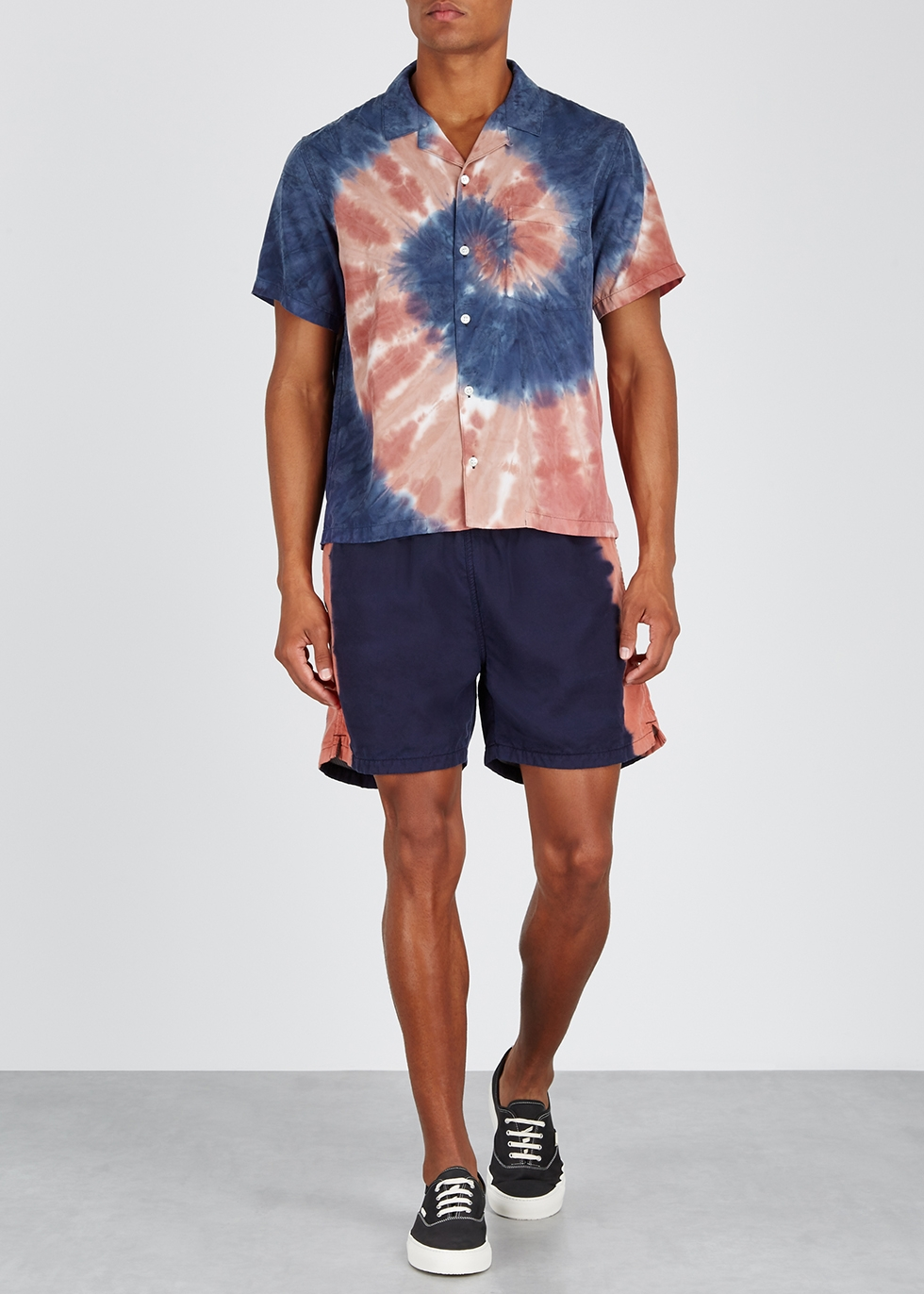 Tie-dye brushed twill shirt - Noma T.D