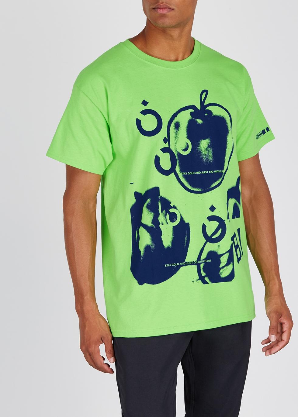Green printed cotton T-shirt - Noma T.D