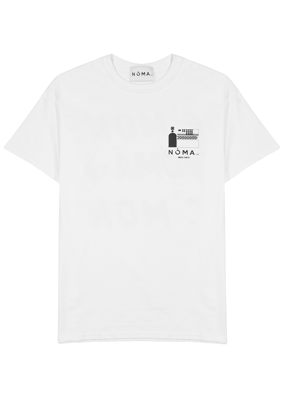 White printed cotton T-shirt - Noma T.D