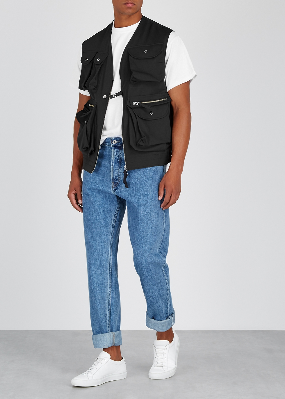 Field anthracite twill gilet - Noma T.D