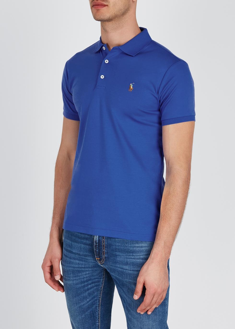 Royal blue slim cotton polo shirt - Polo Ralph Lauren