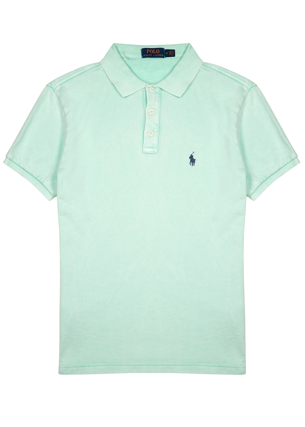 Mint green towelling cotton polo shirt - Polo Ralph Lauren