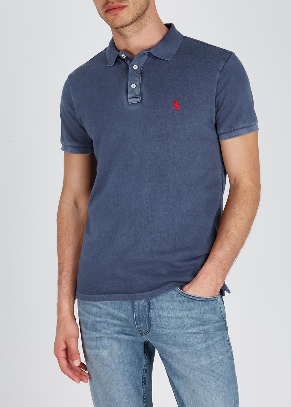 Navy towelling cotton polo shirt - Polo Ralph Lauren
