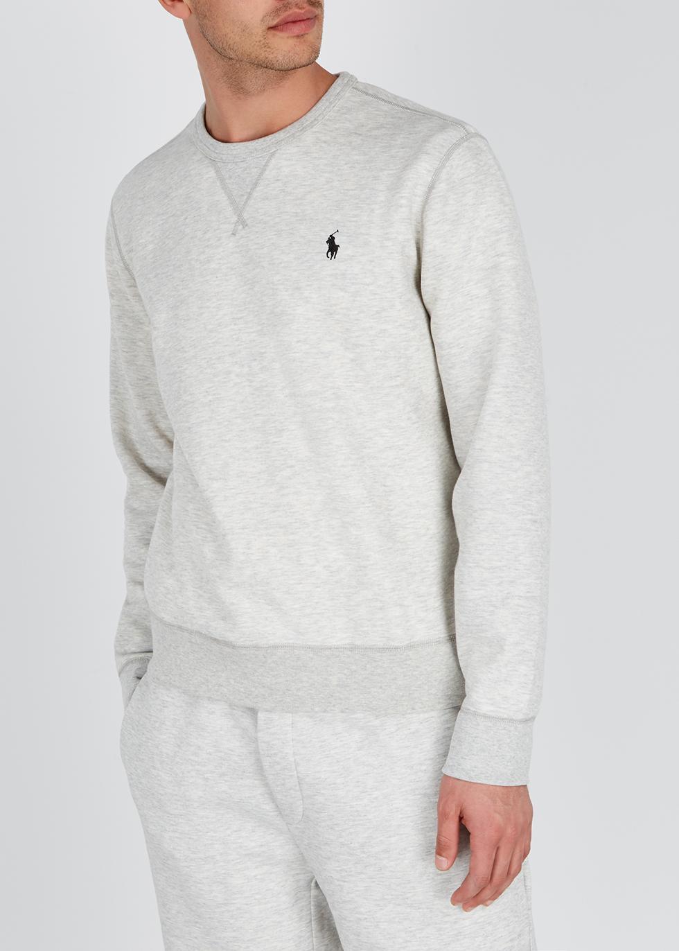 Performance grey mélange jersey sweatshirt - Polo Ralph Lauren