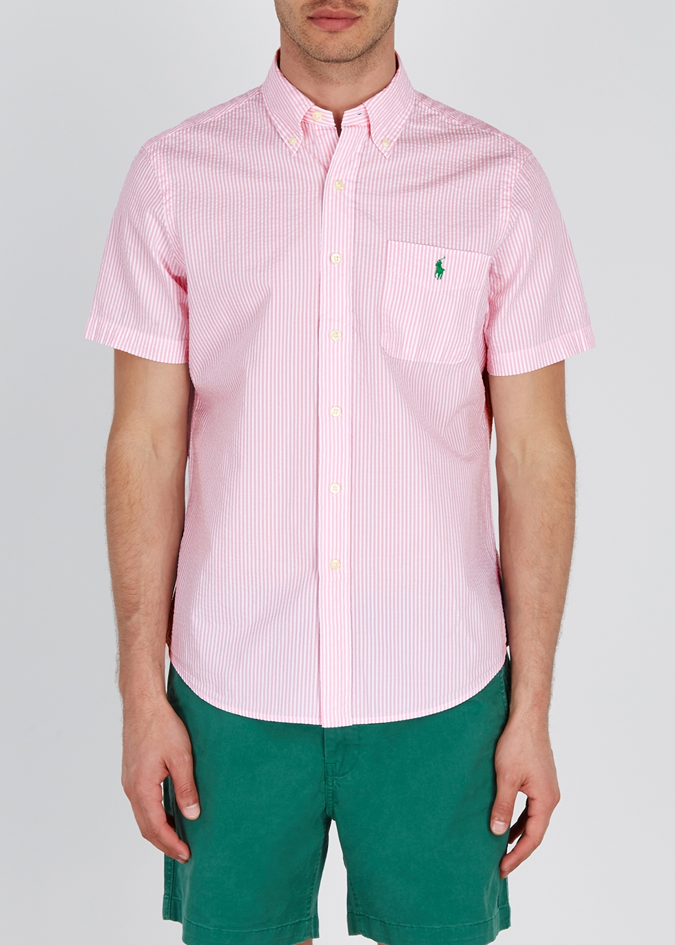 Pink striped seersucker shirt - Polo Ralph Lauren