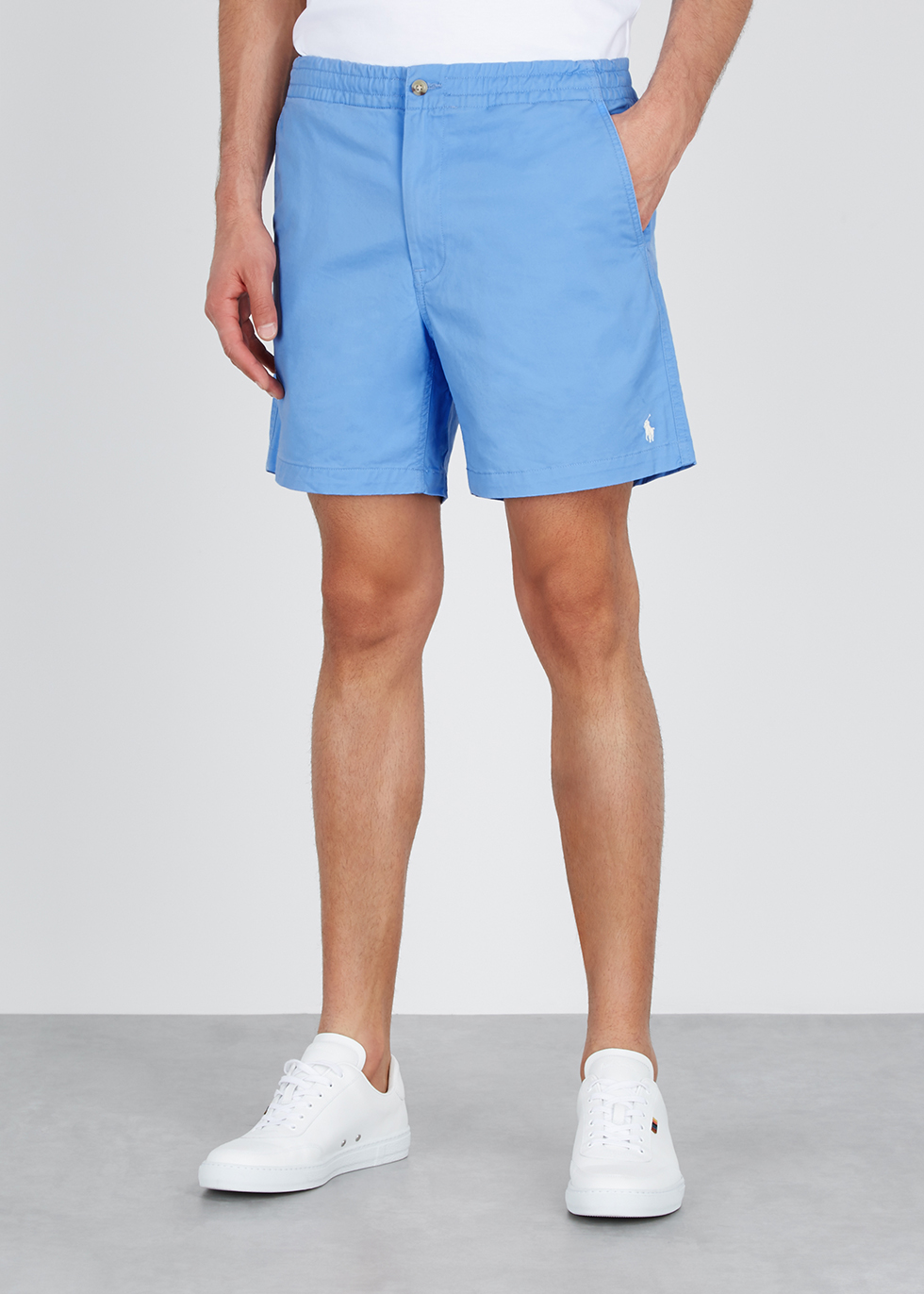 Light blue stretch-cotton shorts - Polo Ralph Lauren