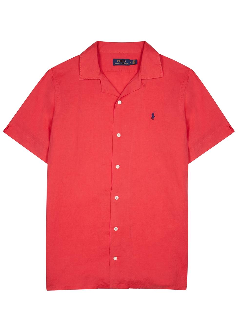 Red linen-blend shirt - Polo Ralph Lauren