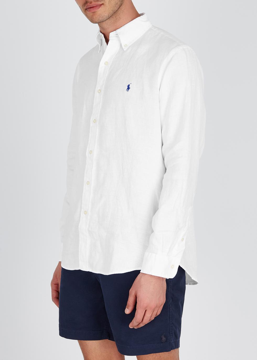 White custom linen shirt - Polo Ralph Lauren