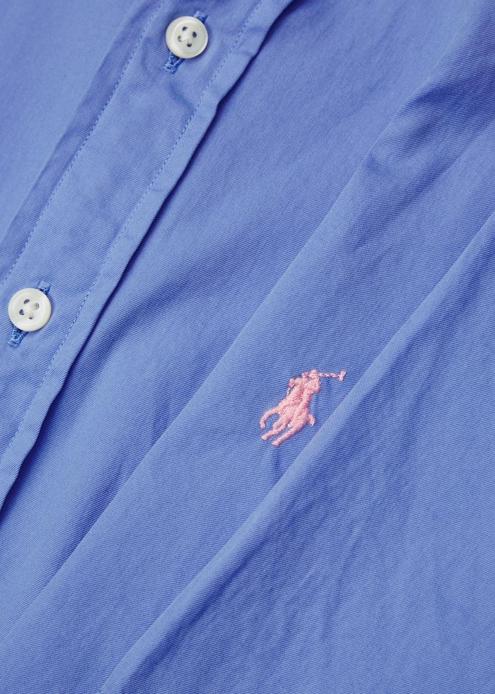 Light blue slim cotton shirt - Polo Ralph Lauren