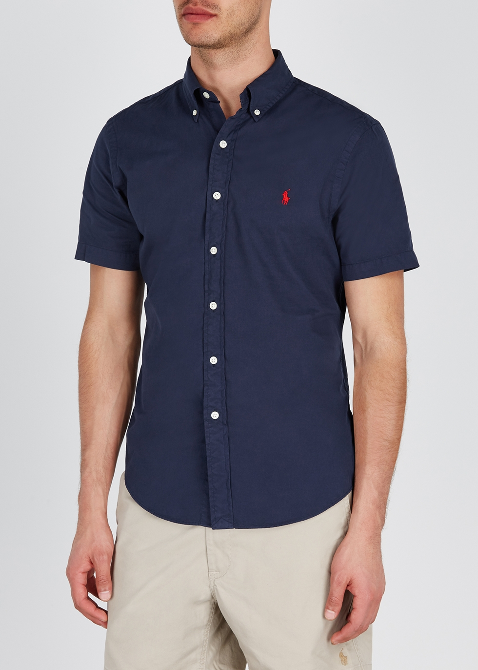 Navy slim cotton shirt - Polo Ralph Lauren