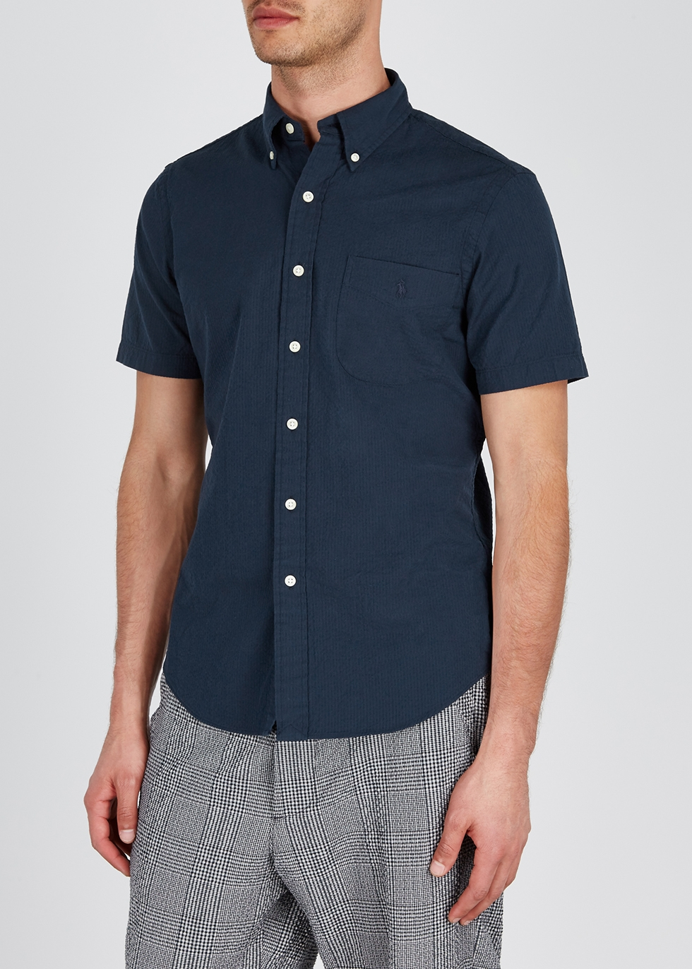 Navy cotton seersucker shirt - Polo Ralph Lauren