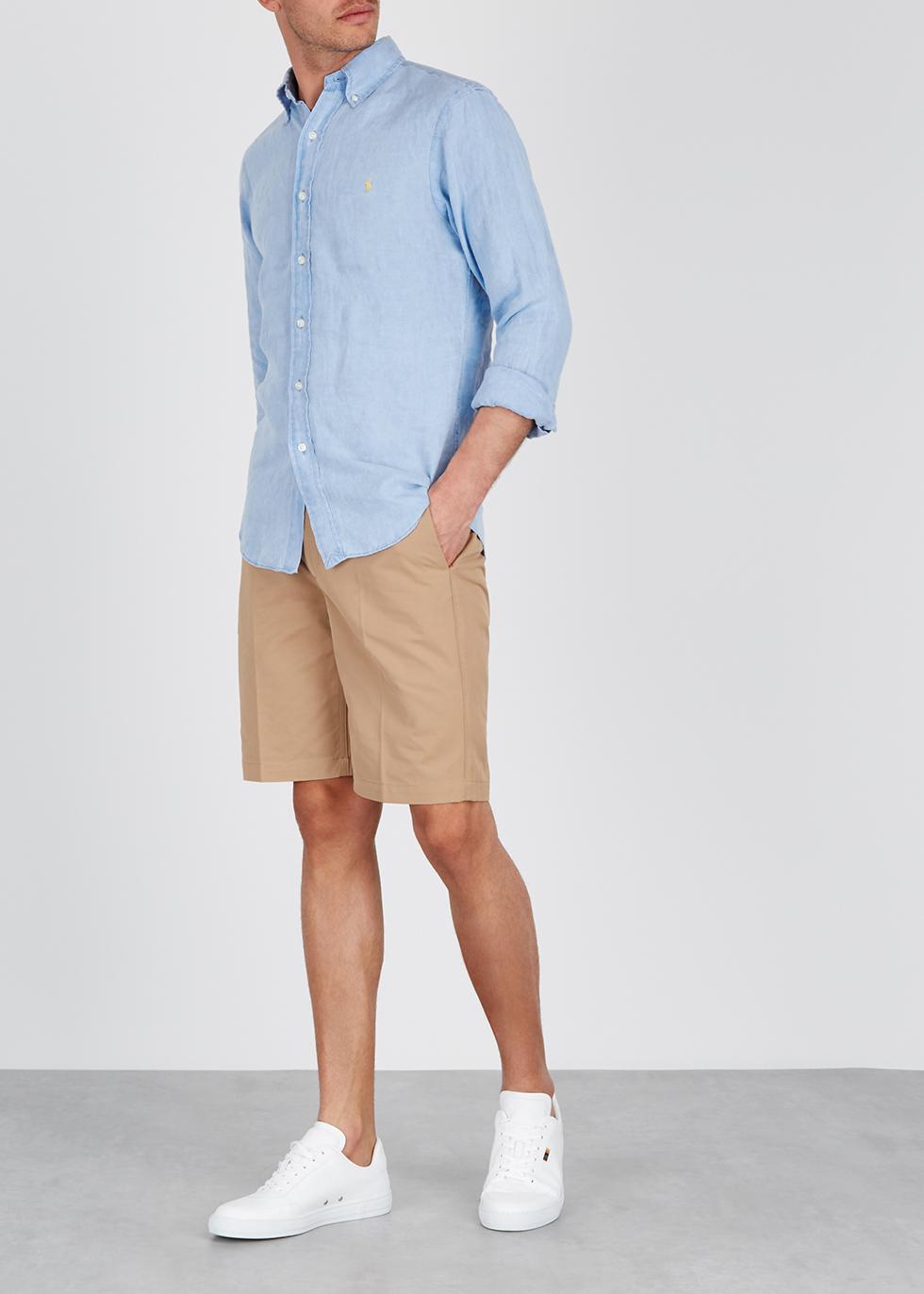 Light blue slim linen shirt - Polo Ralph Lauren
