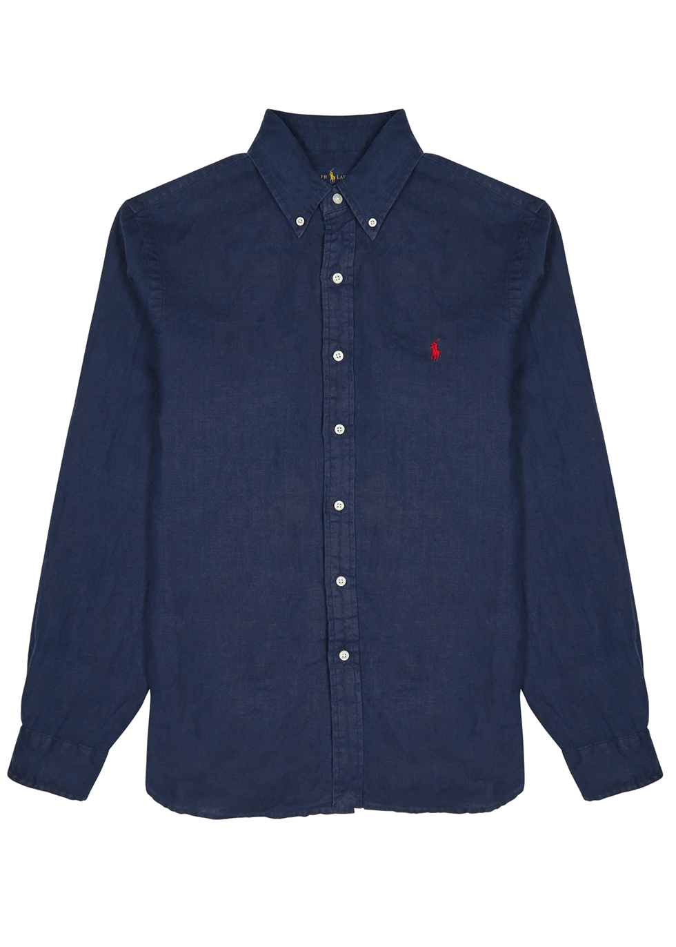 Navy slim linen shirt - Polo Ralph Lauren