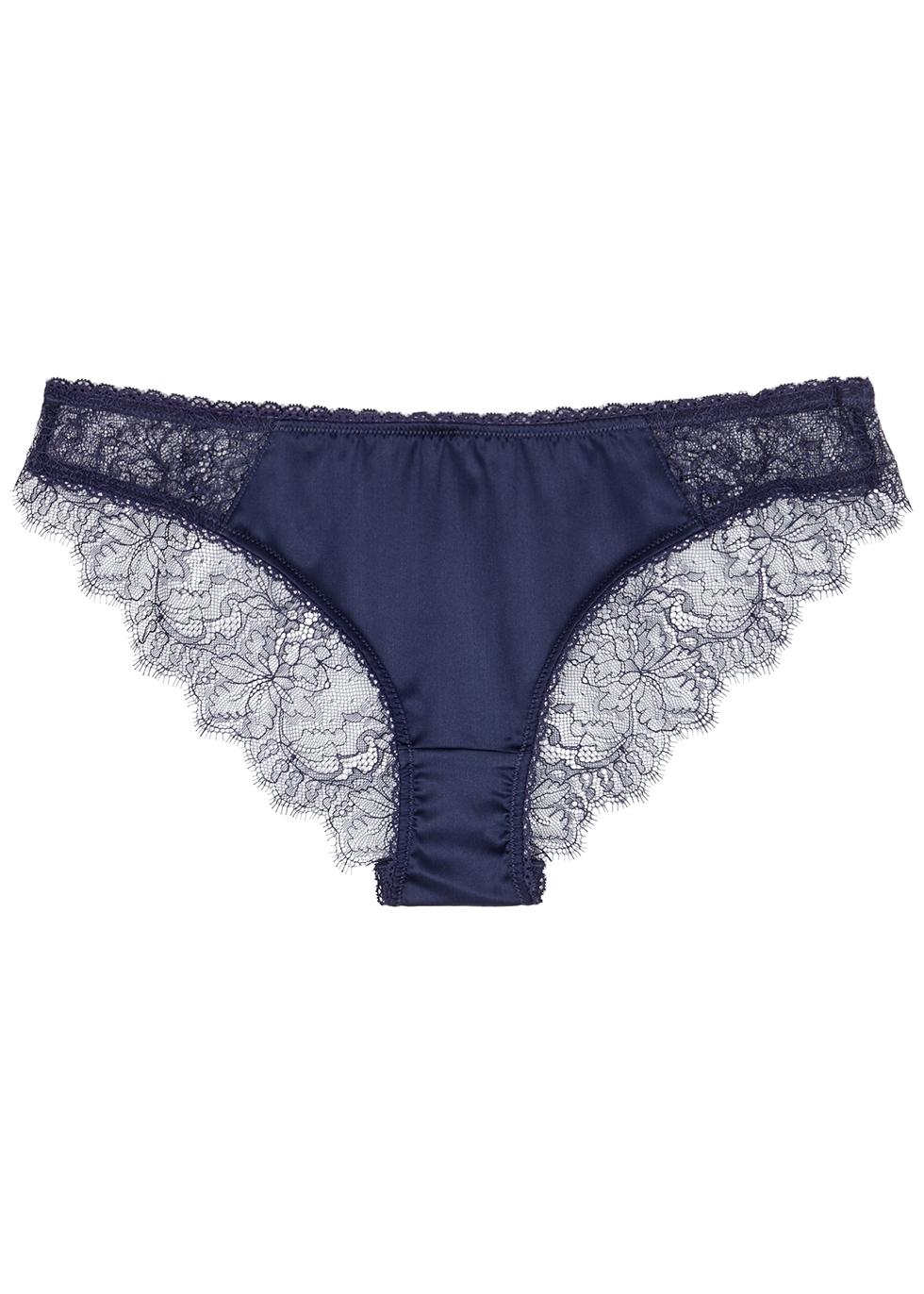 Gigi Giggling navy lace briefs - Stella McCartney