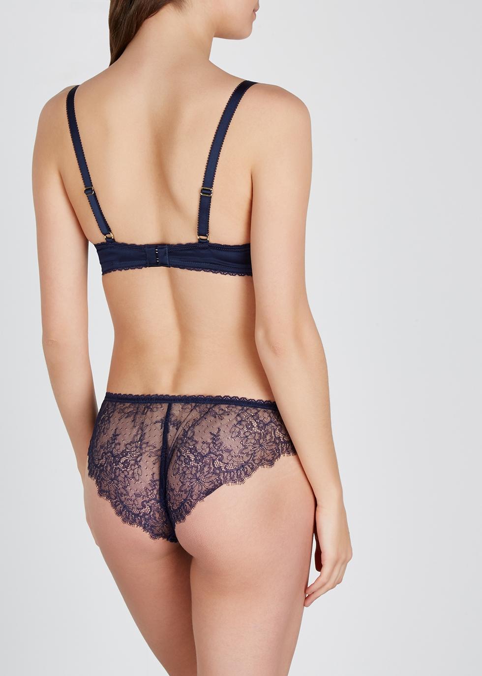 Gigi Giggling navy lace underwired bra - Stella McCartney