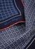 Blue printed silk pocket square - Salvatore Ferragamo