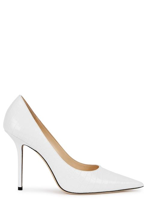 a34fed037ec Jimmy Choo Love 100 white leather pumps - Harvey Nichols