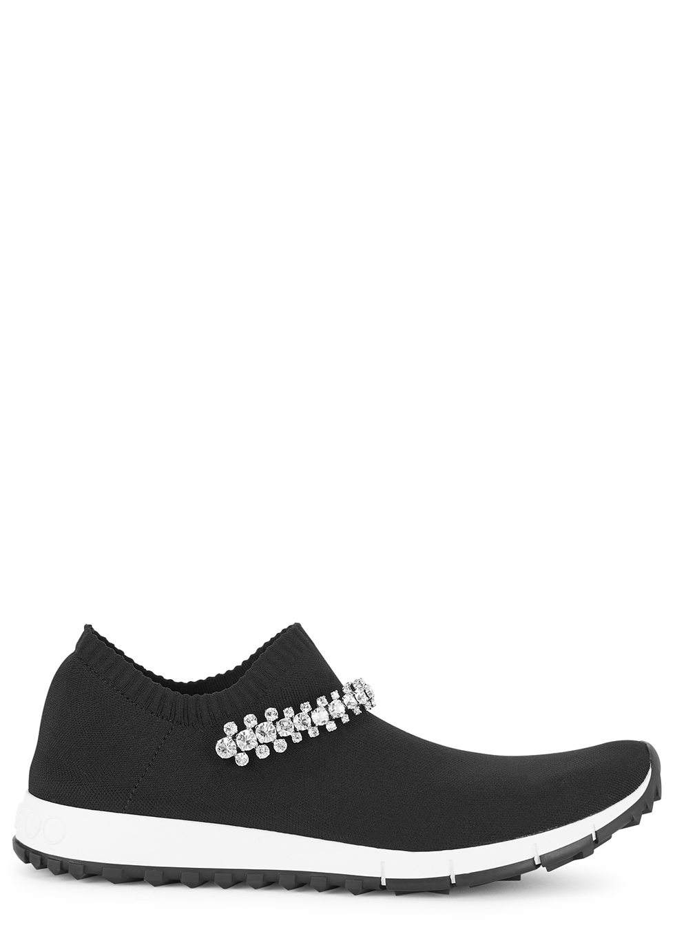 Verona crystal-embellished stretch-knit sneakers
