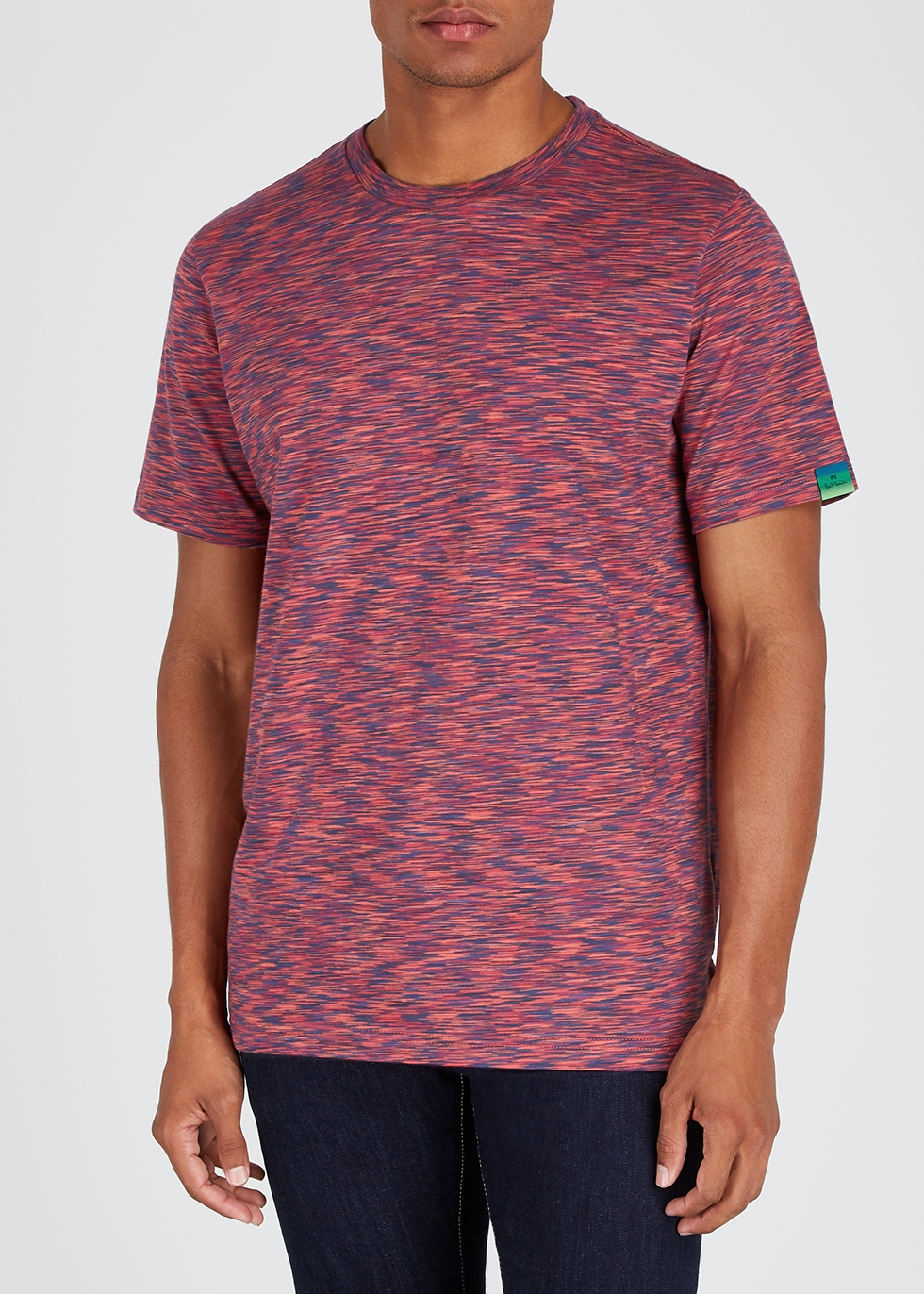 Red space-dye cotton T-shirt - PS by Paul Smith