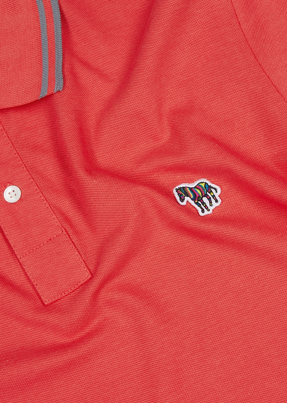 Red piqué cotton polo shirt - PS by Paul Smith