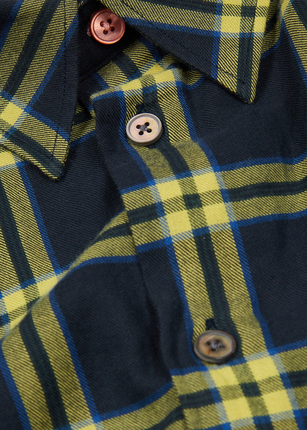 Navy checked cotton shirt - PS by Paul Smith