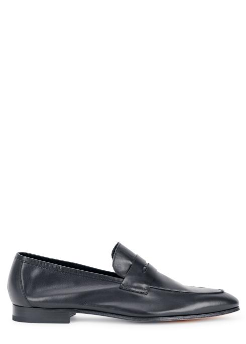59c0248443b Paul Smith Glynn navy leather loafers - Harvey Nichols