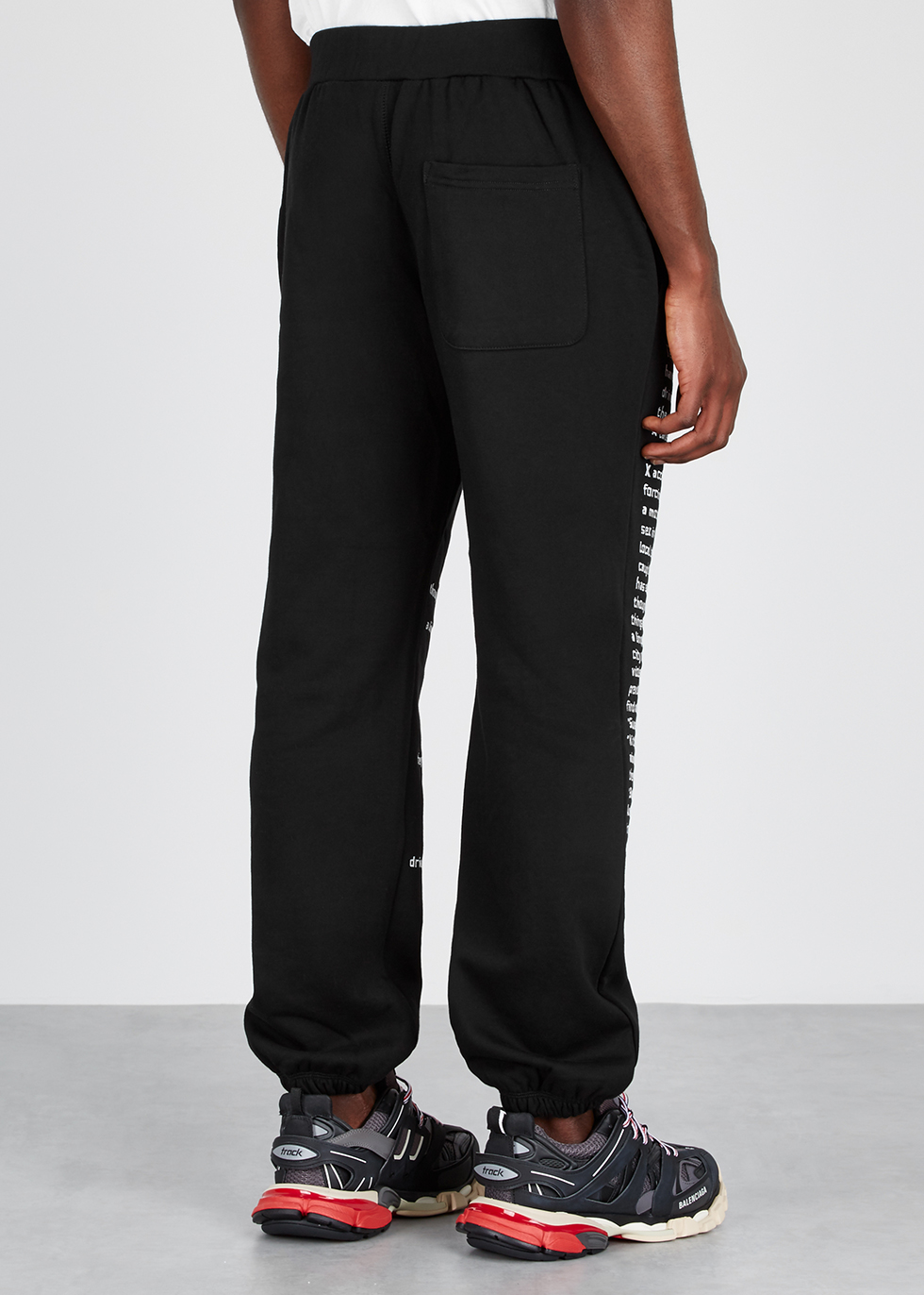 Teenage Lovers black embroidered sweatpants - Pleasures