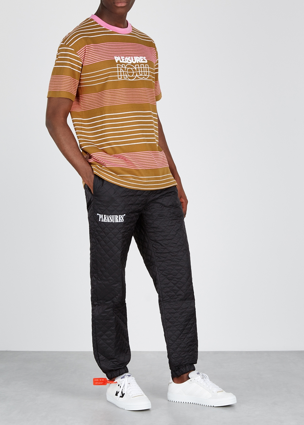 Feedback striped cotton T-shirt - Pleasures