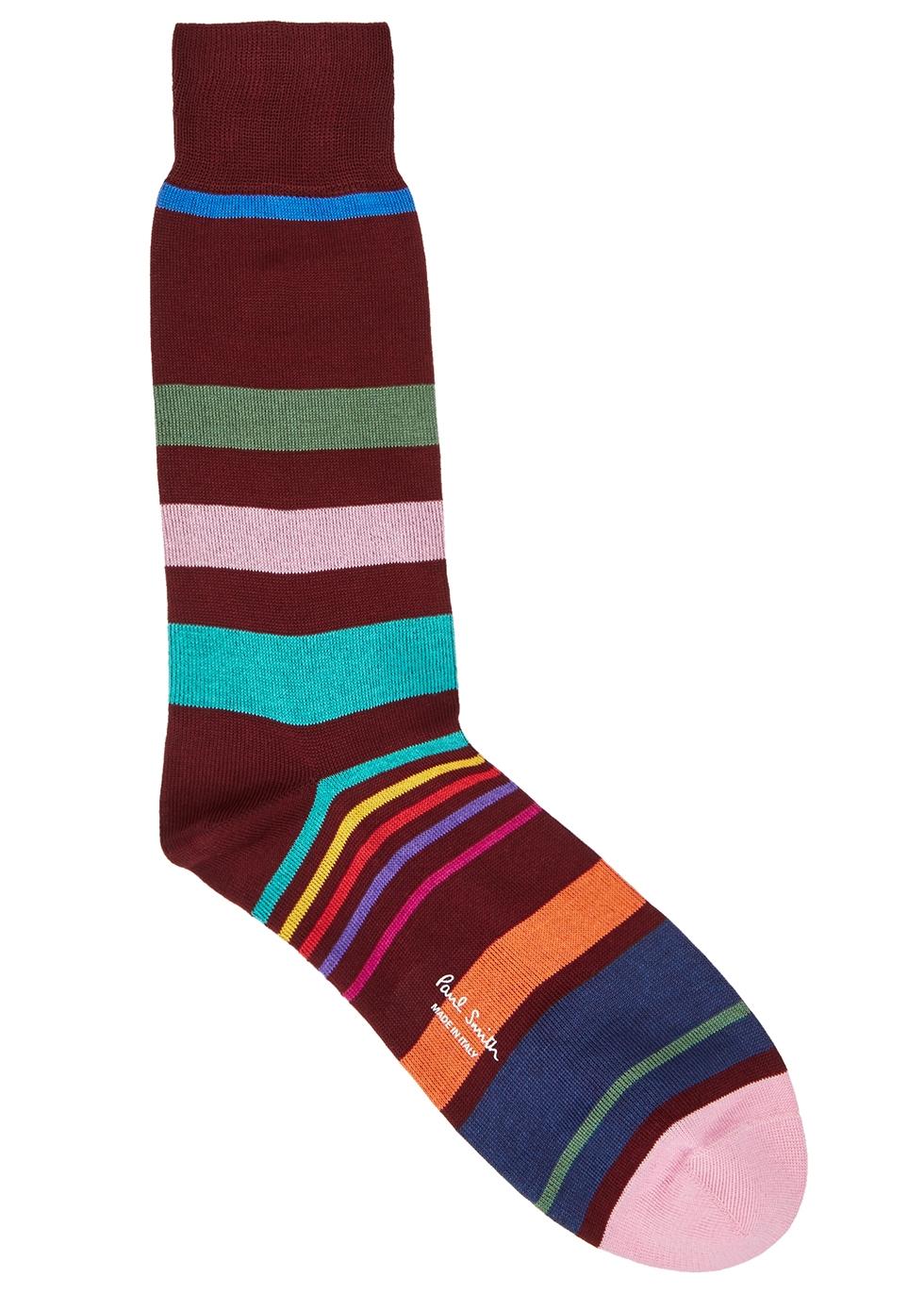 Teaser burgundy cotton-blend socks - Paul Smith
