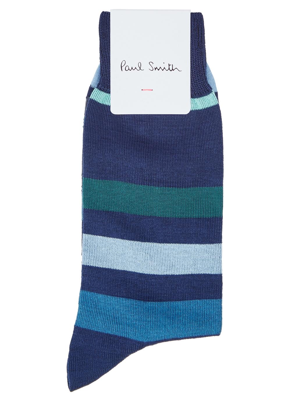 Teaser navy cotton-blend socks - Paul Smith