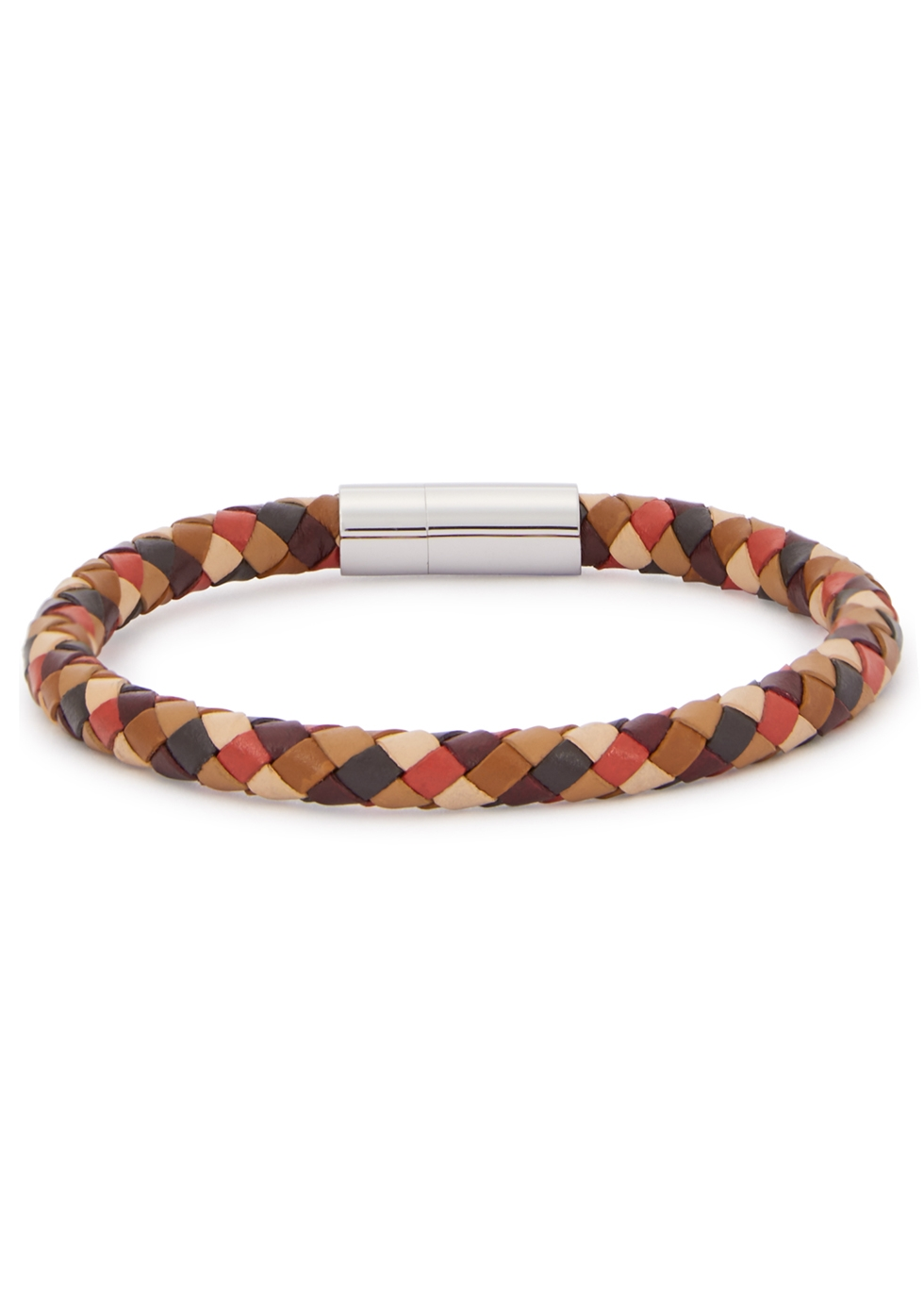 Brown woven leather bracelet - Paul Smith