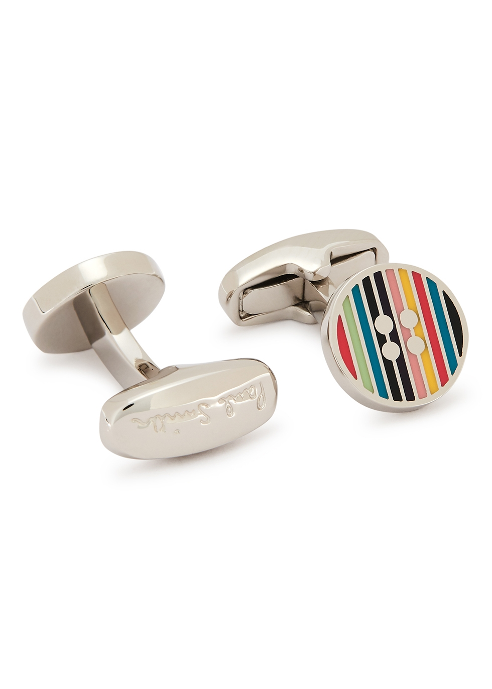 Silver-tone button cufflinks - Paul Smith