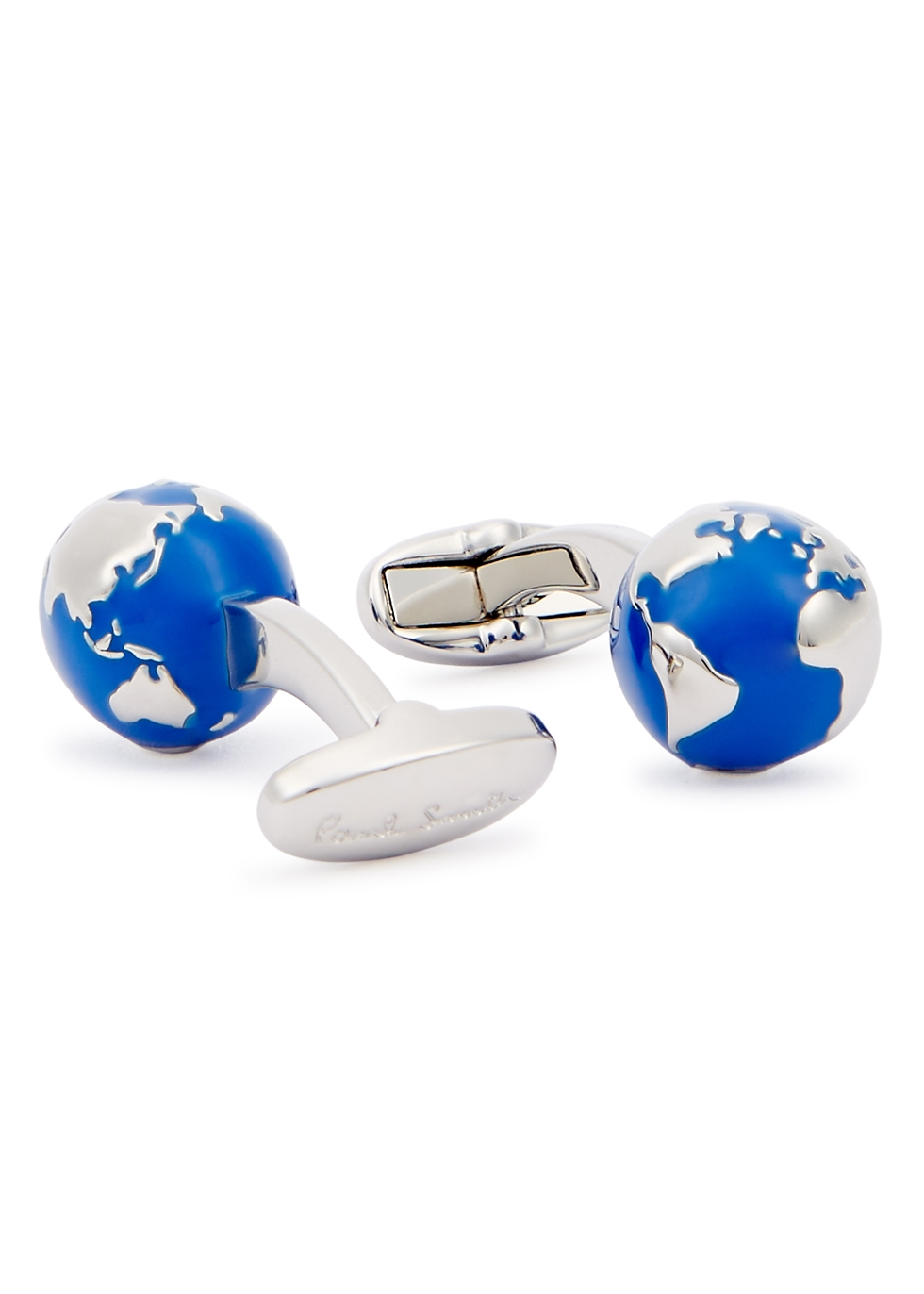 Globe silver-tone cufflinks - Paul Smith