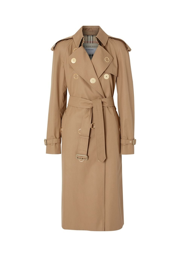 db607fcf1bcc Press-stud detail cotton gabardine trench coat ...