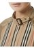Cut-out detail icon stripe cotton blouse - Burberry