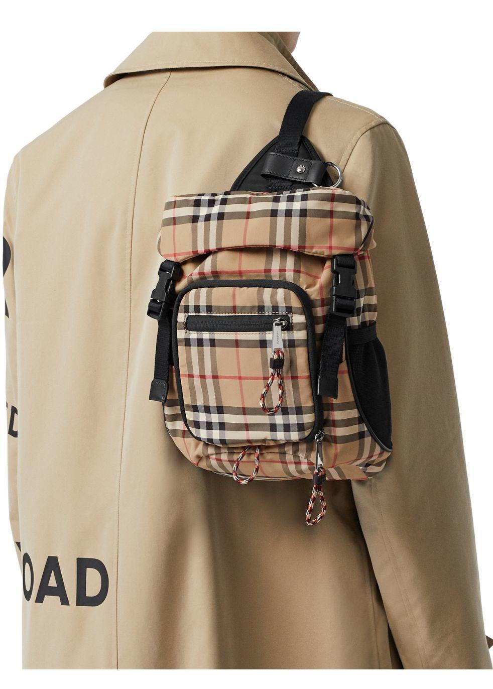 Vintage check nylon leo belt pack - Burberry