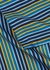 Blue and mustard striped trousers - Derek Rose