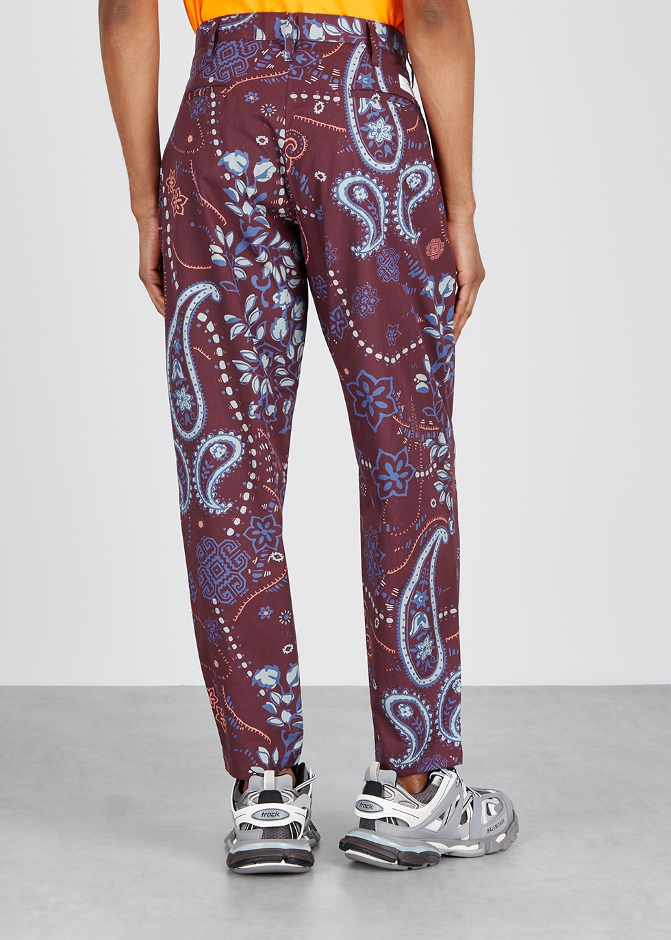 Burgundy cotton trousers - Flagstuff