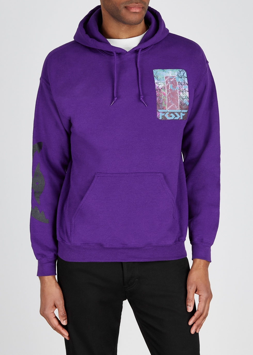 Purple cotton-blend sweatshirt - Flagstuff