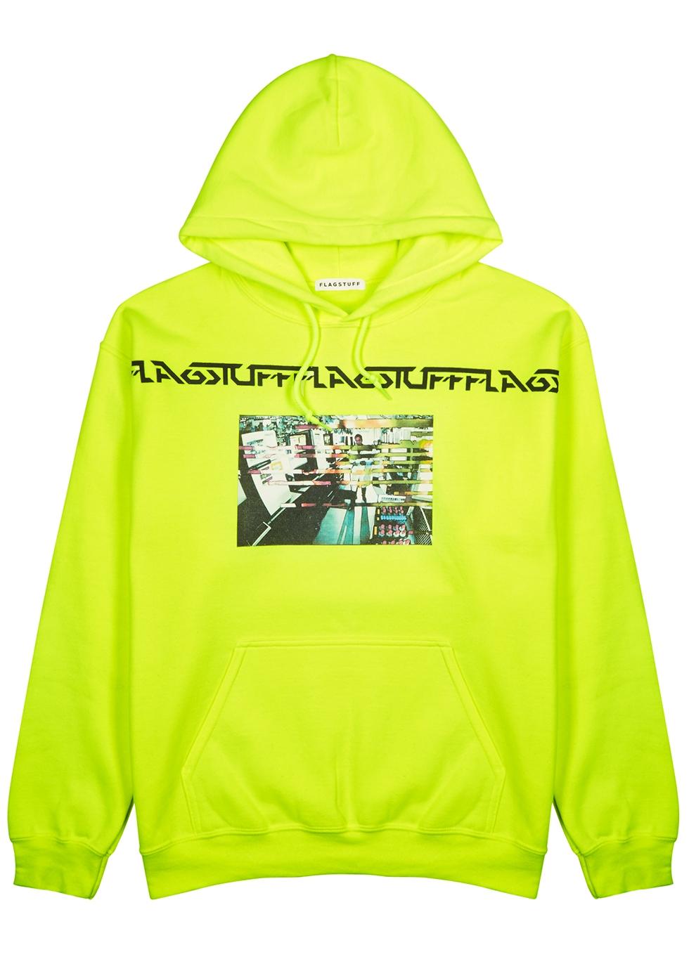 Neon yellow cotton-blend sweatshirt - Flagstuff