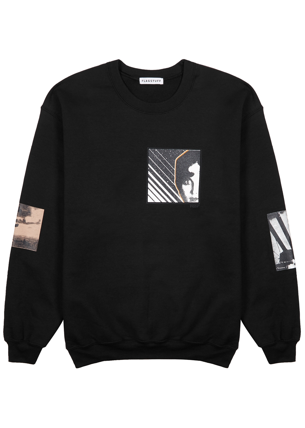 Black cotton/blend sweatshirt - Flagstuff