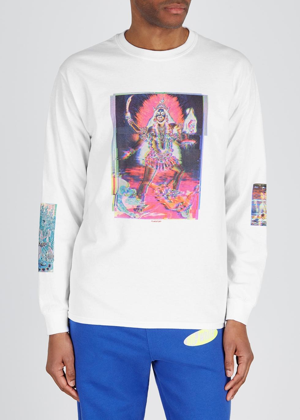 White cotton T-shirt - Flagstuff