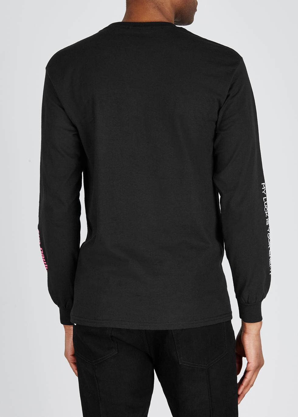 Black cotton T-shirt - Flagstuff