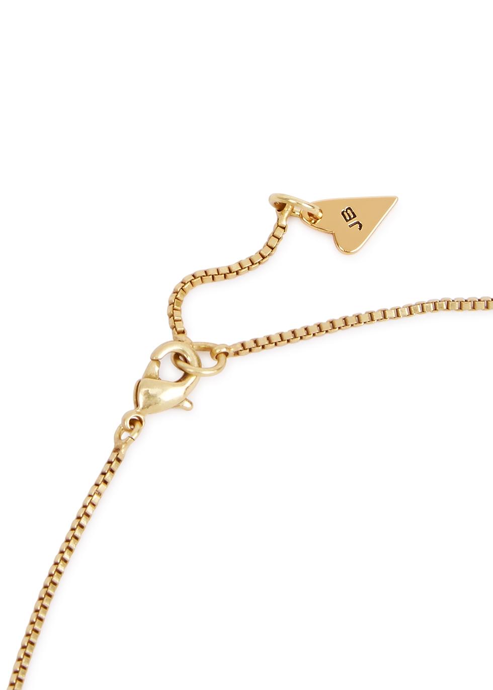 Love 14kt gold-dipped necklace - JENNY BIRD