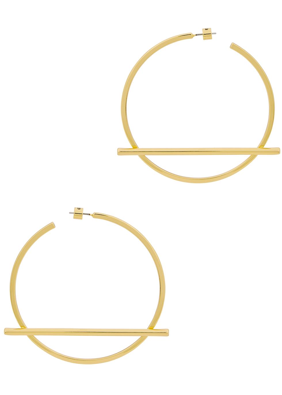 Trust 14kt gold-dipped hoop earrings - JENNY BIRD